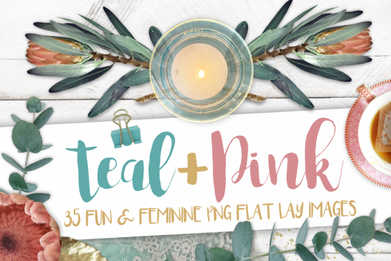 teal-and-pink-png-image-set