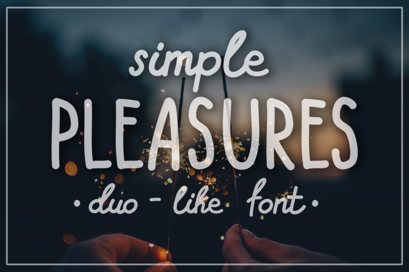 simple-pleasures-hand-drawn-font
