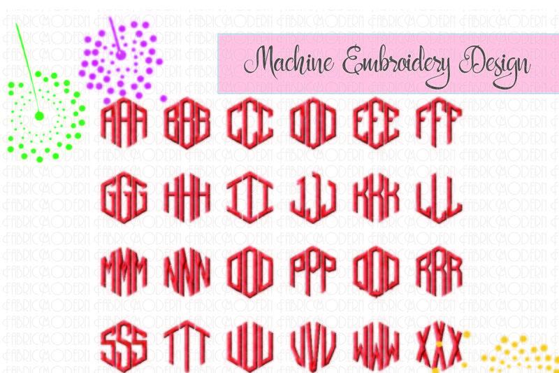 hexagon-monogram-towels-hex-monogram-embroidery-design-monogram-font-2-inch-898