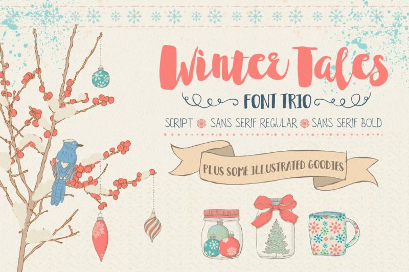 winter-tales-font-trio-extras