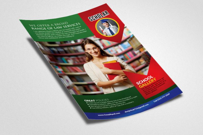 school-education-flyer-template