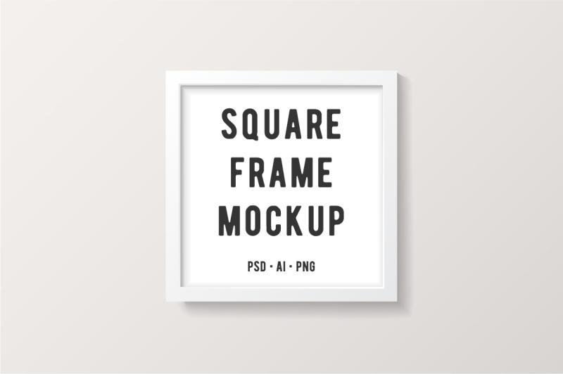 Free White Square Frame Mockup (PSD Mockups)