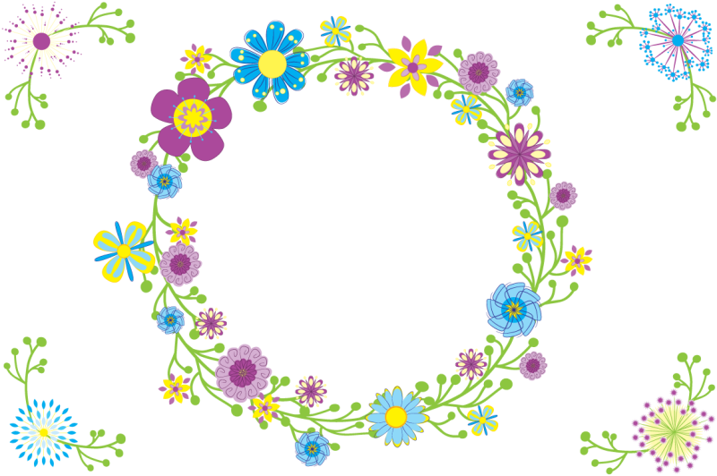 quirky-font-otf-with-editable-vector-flowers-ai