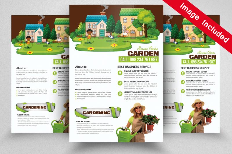 green-service-psd-flyer
