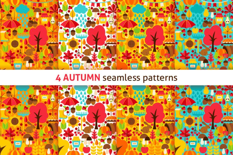 autumn-flat-seamless-patterns