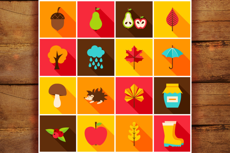 autumn-flat-icons