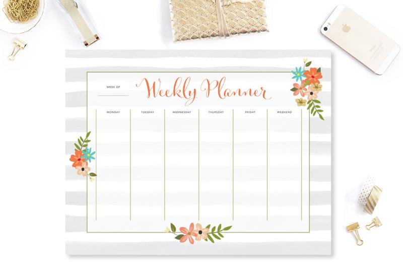 floral-stripes-weekly-planner