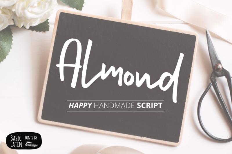 almond-hand-lettering-script-fonts