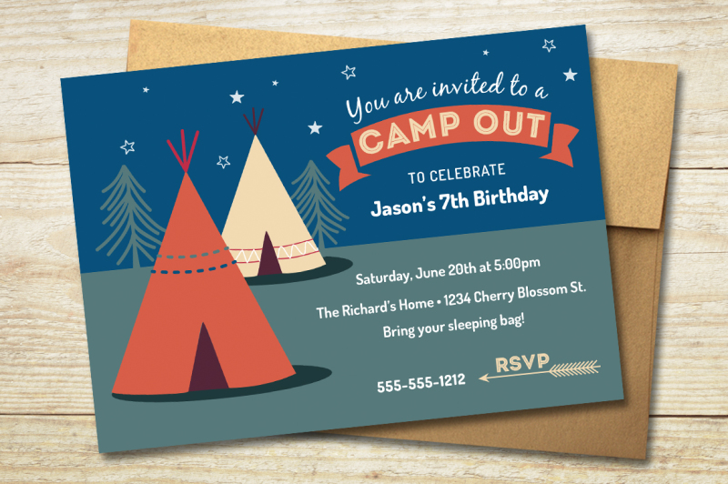 camp-out-party-invitation