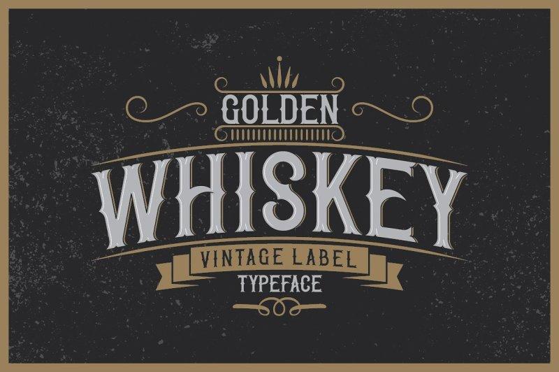 golden-whiskey-typeface