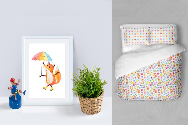 happy-fox-watercolor-clip-art