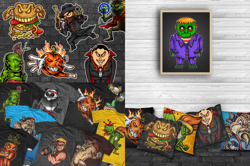 monster-party-halloween-character-set