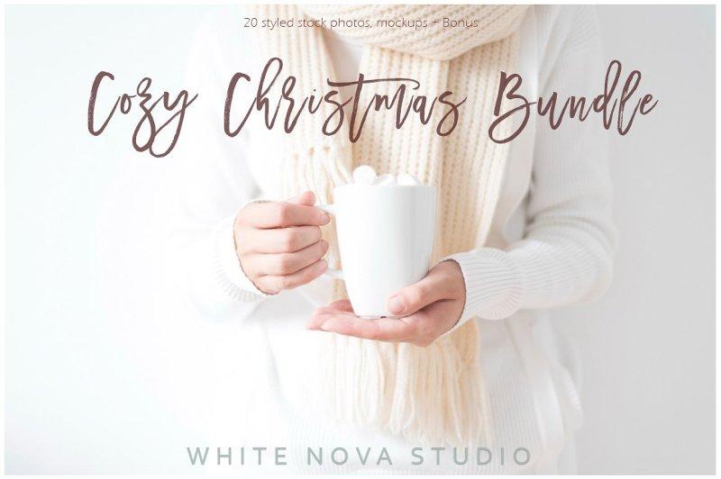 Free Cozy Christmas Bundle (PSD Mockups)