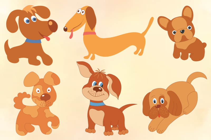 funny-dogs-vector-set
