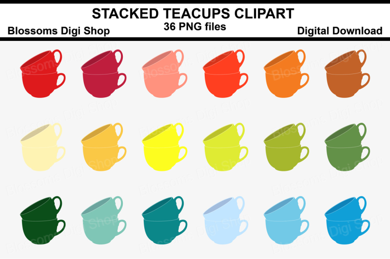 stacked-teacups-clipart-36-multi-colours-png-files