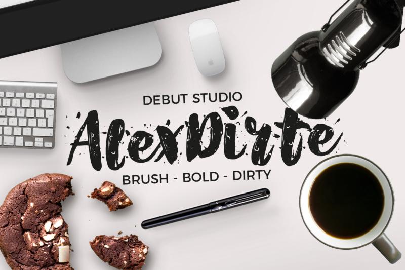 alexdirte-brush-font