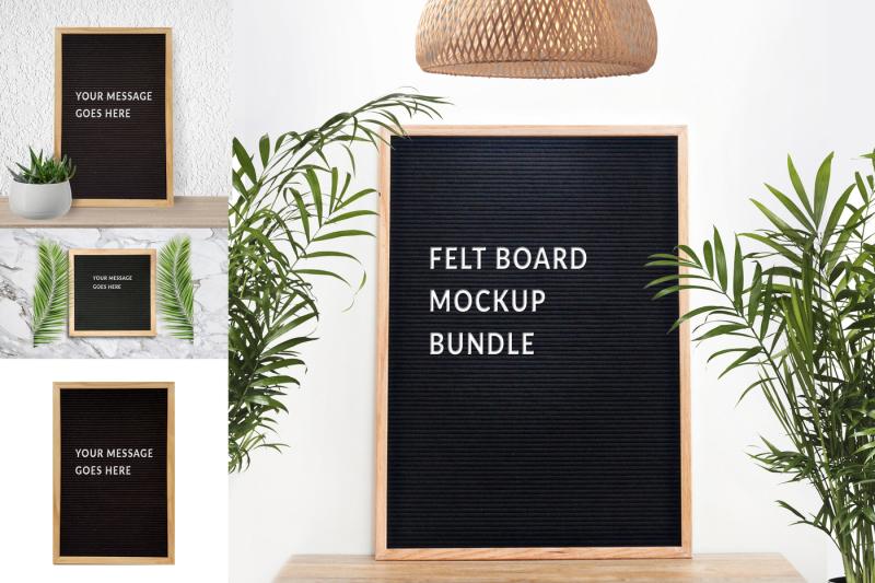 Free Felt board mockup bundle (PSD Mockups)