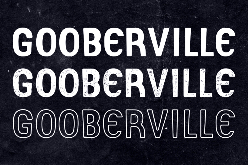gooberville-typeface