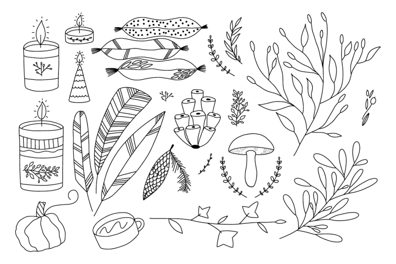 set-of-vitage-doodle-logo-elements