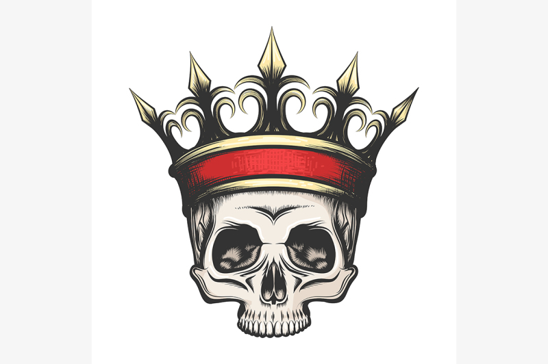 human-skull-in-crown-drawn-in-engraving-style
