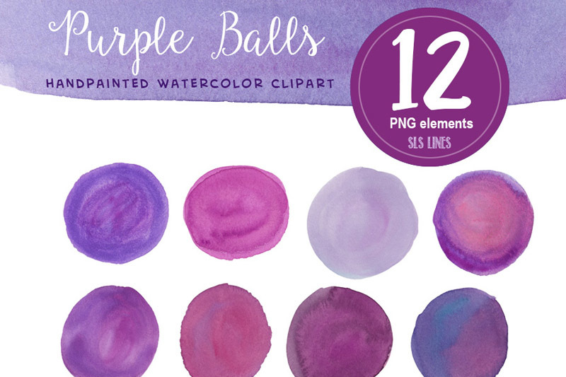 purple-watercolour-balls