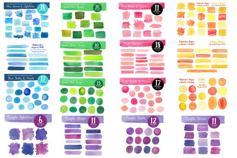 watercolor-shape-bundle-multicolors