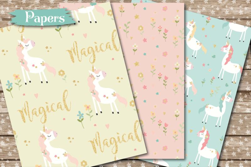 sparkly-unicorn-paper