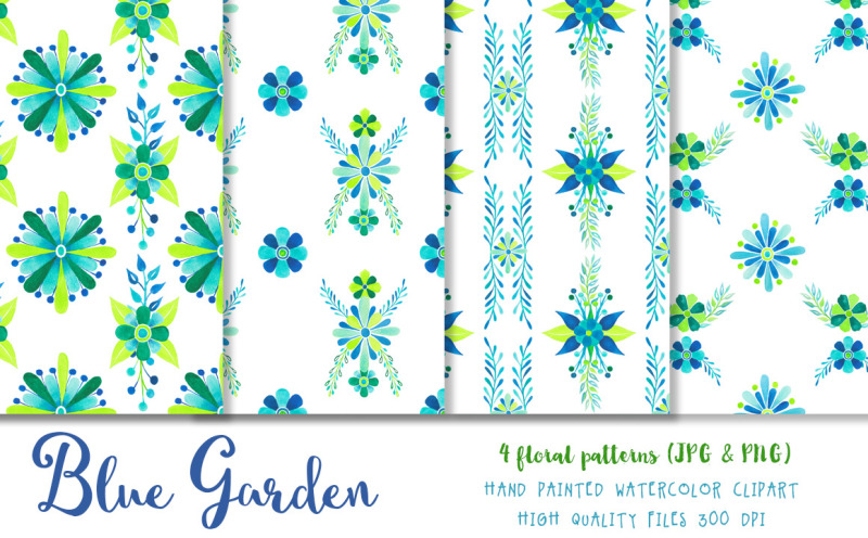 blue-and-green-watercolor-florals