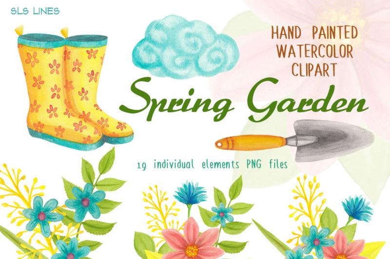spring-gardening-watercolor-clipart