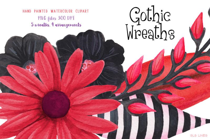 gothic-floral-wreaths