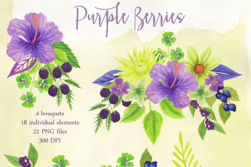 purple-berries-and-flowers