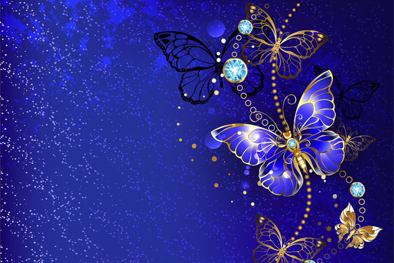 blue-background-with-sapphire-butterfly