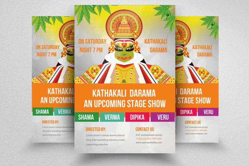 kathakali-drama-stage-show-flyer