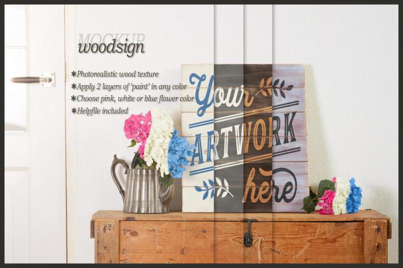 Free Pallet woodsign mockup - clean scene (PSD Mockups)