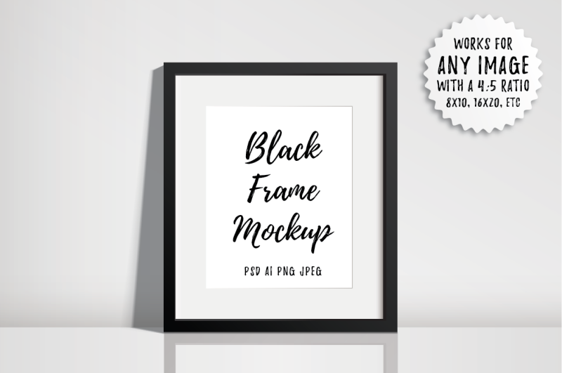 Free Black Frame Mockup - PSD AI PNG JPEG (PSD Mockups)