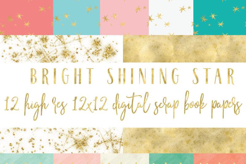 bright-shining-star-digital-paper