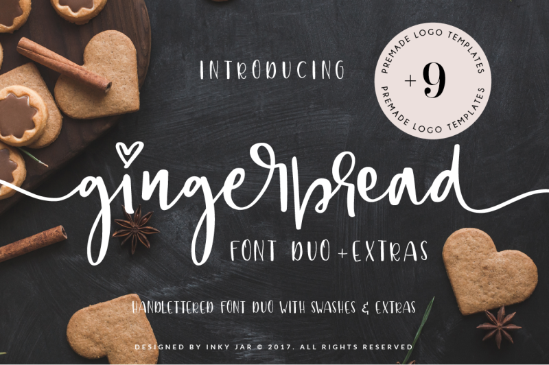 gingerbread-font-duo-9-logo-templates