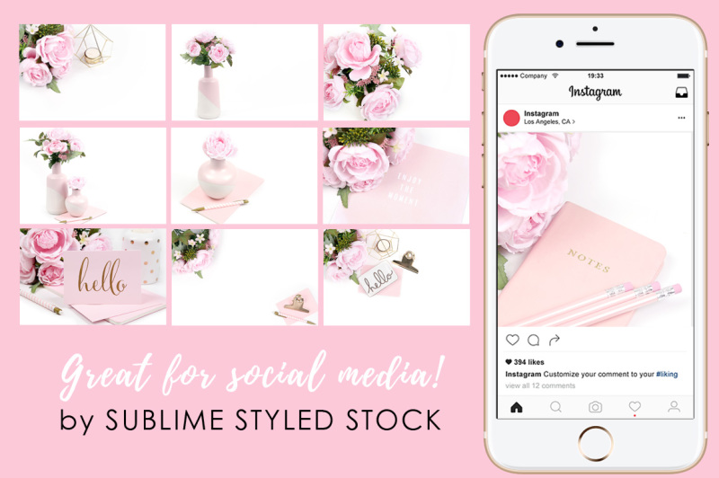 bundle-of-22-pink-and-white-styled-stock-photos