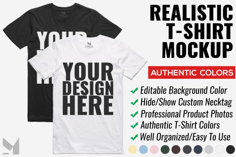 Free Realistic T-Shirt Mockup (PSD Mockups)