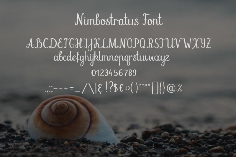 nimbostratus-handwritten-font