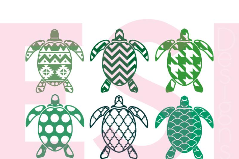 patterned-turtle-designs-svg-dxf-eps