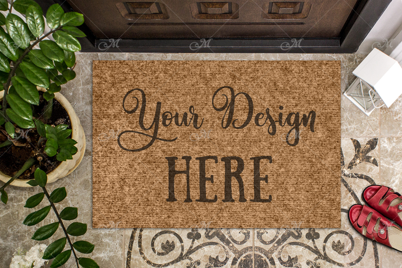 Free Doormat Mock-up. PSD+JPG (PSD Mockups)
