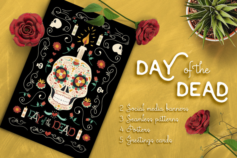 hand-drawn-day-of-the-dead-set-skull-party