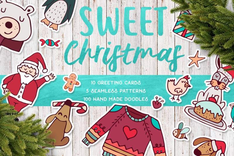 sweet-christmas-hand-drawn-set