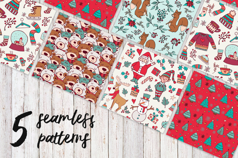 sweet-christmas-hand-drawn-set