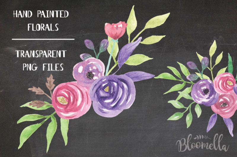 love-struck-watercolour-6-x-bouquets-hand-painted-flower-set