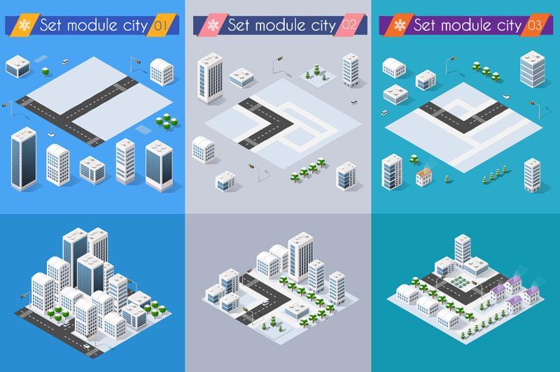 set-vector-3d-cityscape