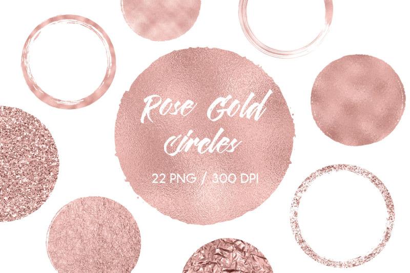 rose-gold-circles-clip-art