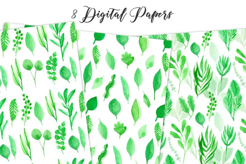 leafy-watercolor-clipart