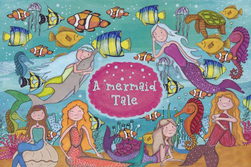 a-mermaid-tale-clipart
